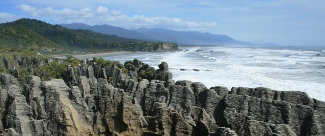 Punakaiki Rocks between Greymouth and Westport