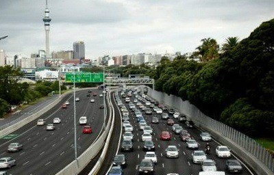 Auckland rush hour traffic